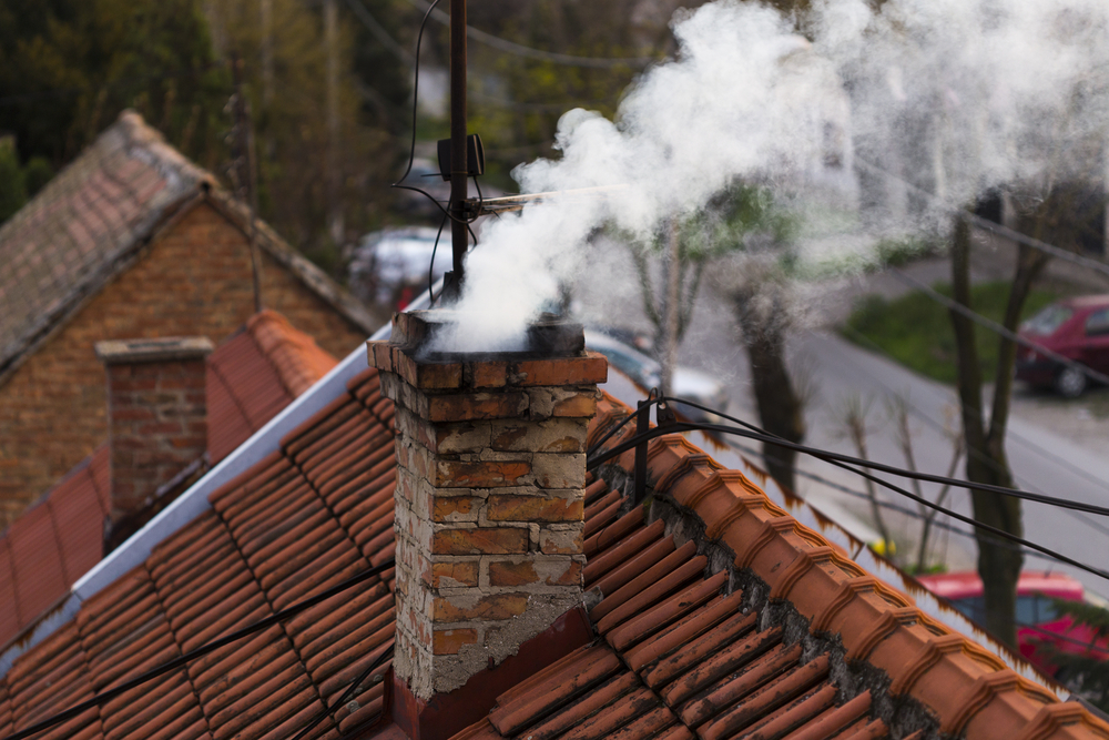 Chimney in a chimney sweep picture