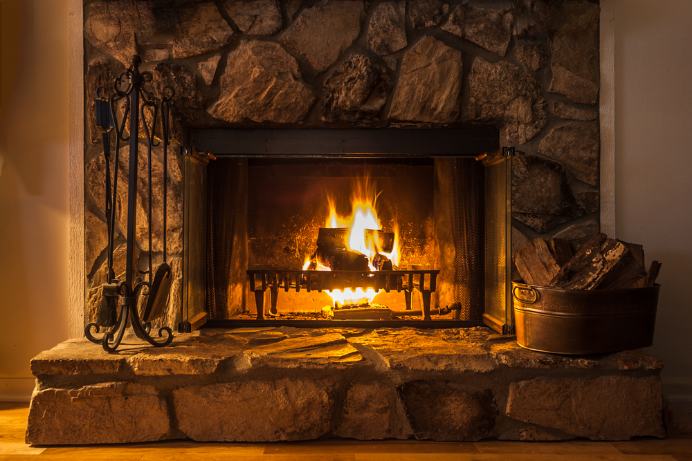 fireplace installed by a chimney sweep company