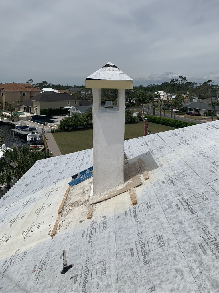 New chimney installation Panama City
