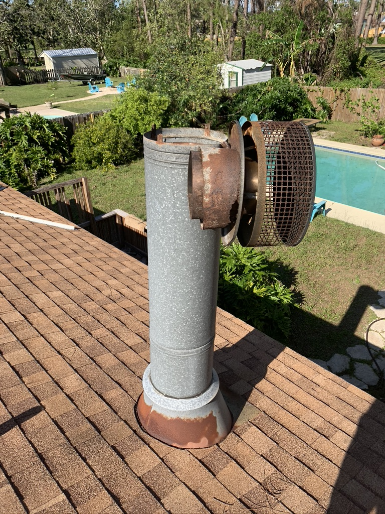 Chimney Cap repair on weather damaged cap