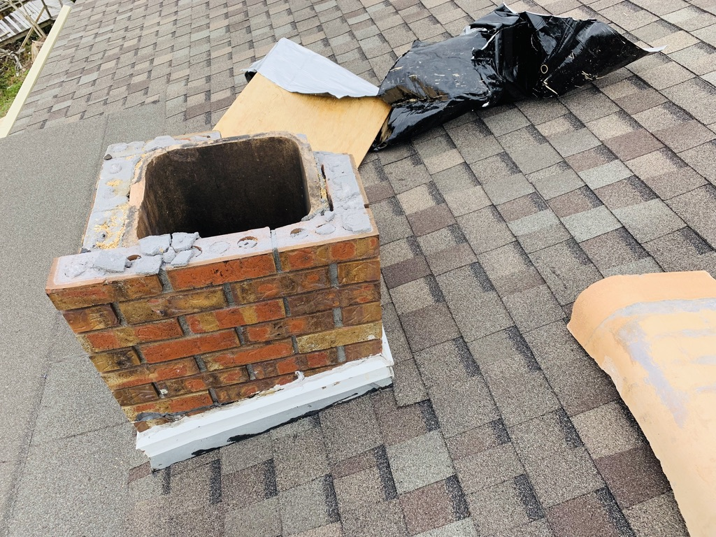 Allstar chimney repair on weather damaged masonry chimney in Fairhope