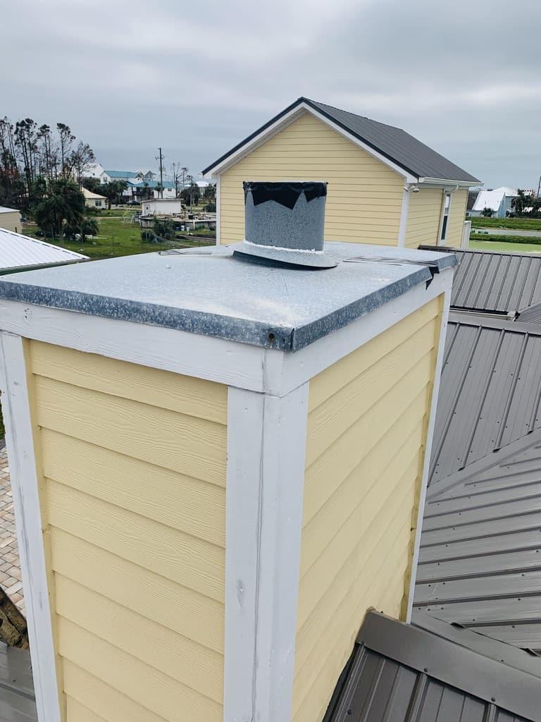 yellow side panel chimney