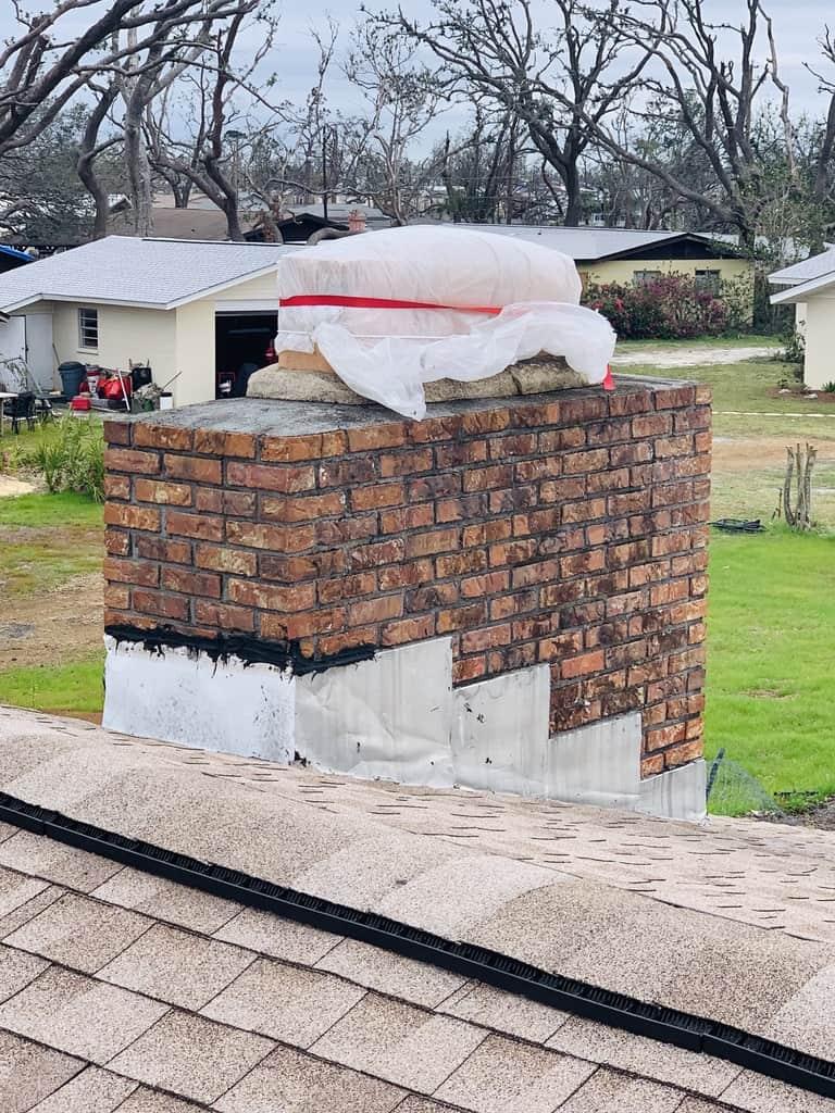 Red Brick Chimney Repair