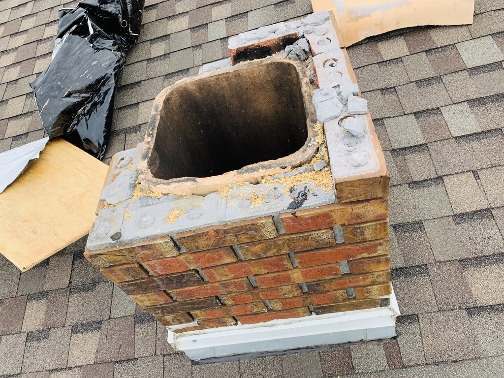 Damaged Chimney