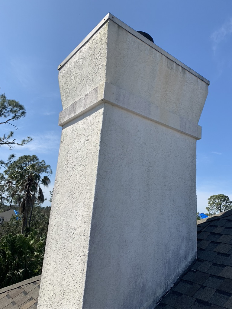 Orlando chimney with new mortar