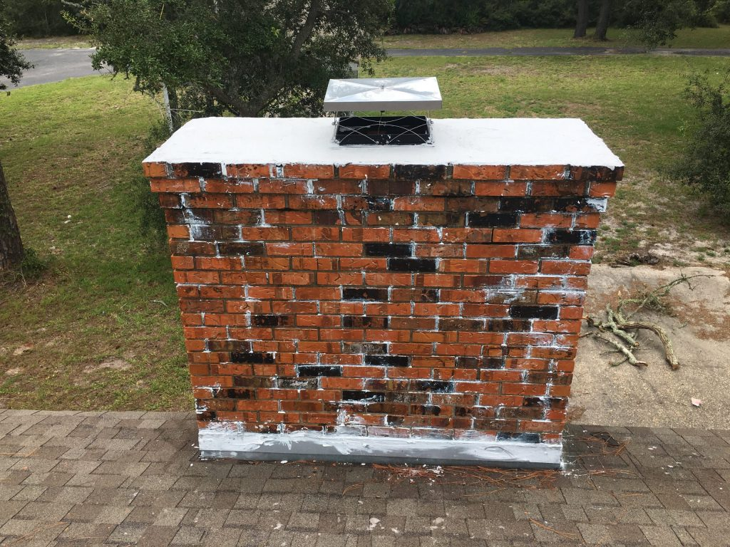 Masonry chimney repair in Moss Bluff