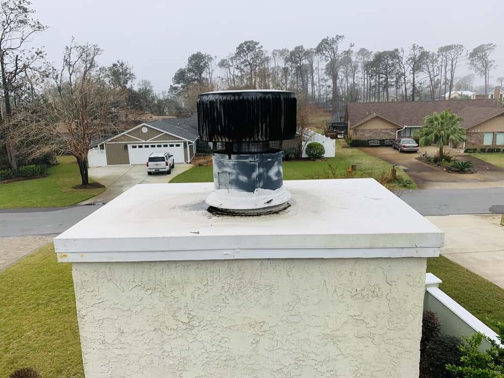Westlake Allstar repairing damaged chimney