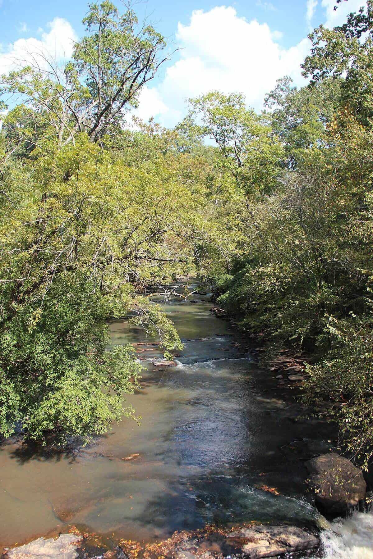 Vickery Creek in Roswell, Georgia
